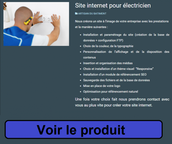validation pré-inscription d'électricien